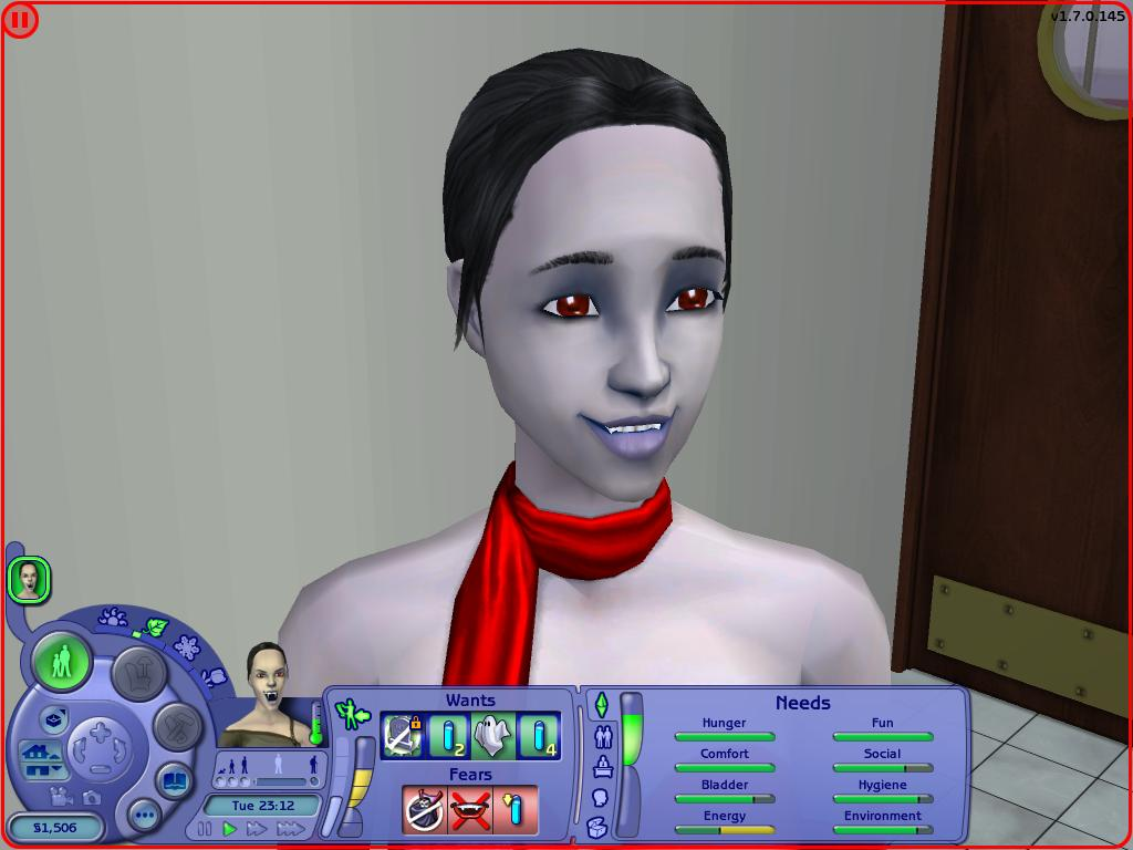 Mod The Sims - Biting neck satisfies hunger need ( Vampires